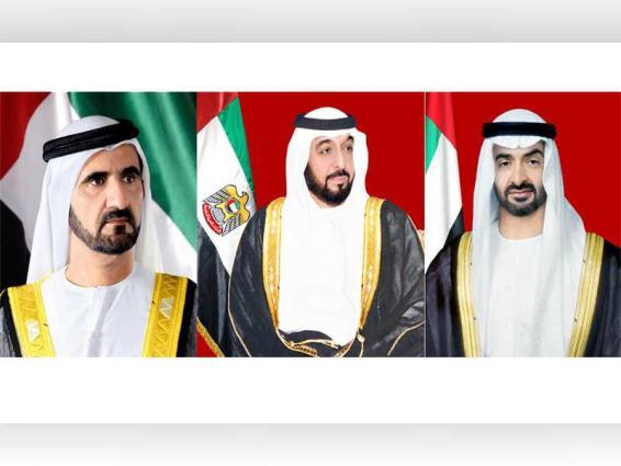 رئيس الدولة ونائبه ومحمد بن زايد يعزون خادم الحرمين الشريفين في وفاة والدة الأمير عبد العزيز بن خالد