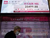 Hong Kong stocks end sharply lower