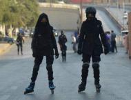 Skating Commandos perform duty for PSL 6 in Karachi