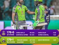 PSL 6: Lahore Qalandars beat Quetta Gladiators by nine wickets