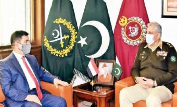 رئیس أرکان الجیش الباکستاني یستقبل وزیر ..