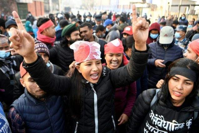Scores arrested in Nepal strike against parliament's dissolution