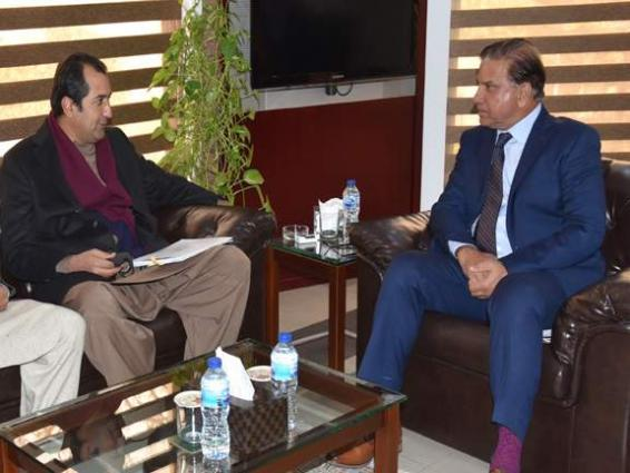 GB CM calls on Chairman WAPDA,discussed matters relating to hydro development in the region, particularly Diamer Basha Dam Project