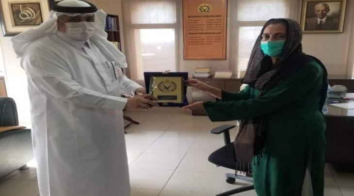 رئیسة التحصیل الجمرکي ثریا أحمد تستقبل سفیر السعودیة لدی باکستان
