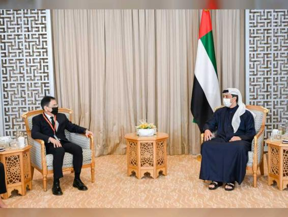 Mansour bin Zayed receives Minister of Defence Industry of Republic of Azerbaijan