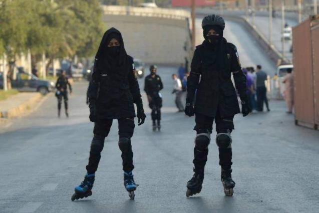 Skating Commandos perform duty for PSL 6 in Karachi