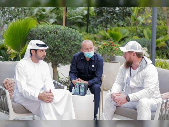 Hamdan bin Mohammed receives Head of Chechen Republic