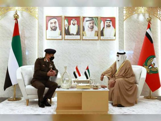 Minister of State for Defence Affairs meets state guests attending IDEX 2021