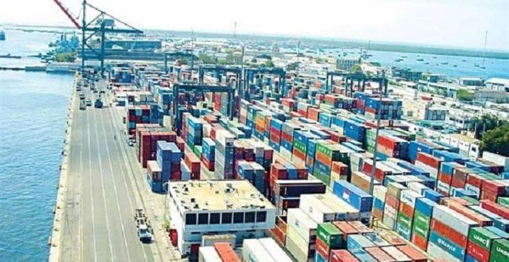 Shipping activity at Port Qasim on 23 feb 2021