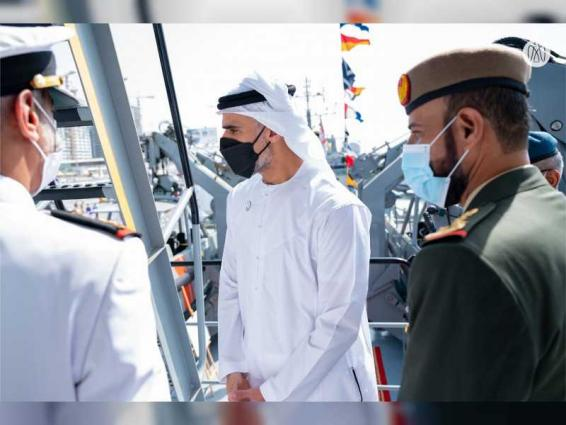 Khaled bin Mohamed bin Zayed launches vessel Shujaa at NAVDEX