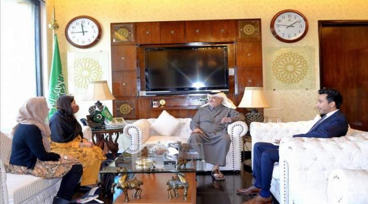 رئیسة CANEA آمنة خان تلتقی سفیر السعودیة لدی باکستان
