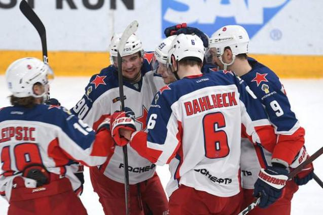 CSKA Moscow Hockey Club Claims 6th Victory in KHL Continental League