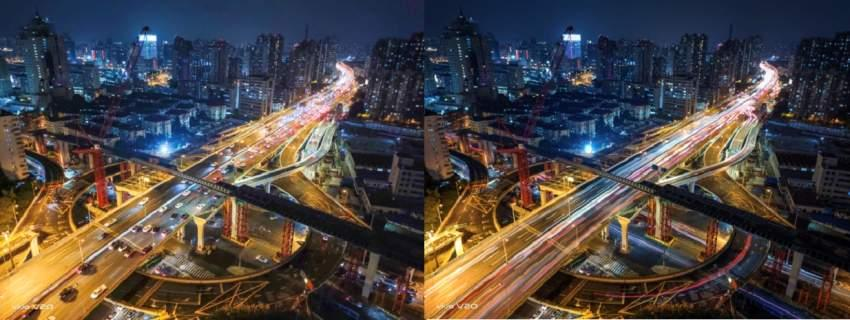 Fig: Without and with Tripod Night Mode for all your night shots