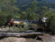 20 dead after bus plunges off cliff in Bolivia