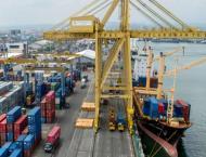 Shipping activity at Port Qasim 9 march 2021