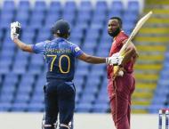 Sri Lanka's Gunathilaka given out obstructing the field