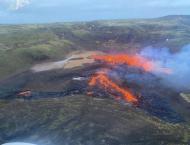 Lava eruption from long-dormant Icelandic volcano