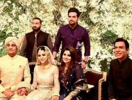 Sohai Ali Abro ties knot with cricketer Shehzar Mohammad