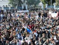 Teachers' sit-in protest enters seven day