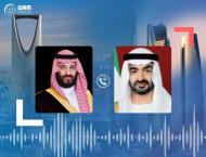 Mohamed bin Zayed receives Saudi Crown Prince's phone call