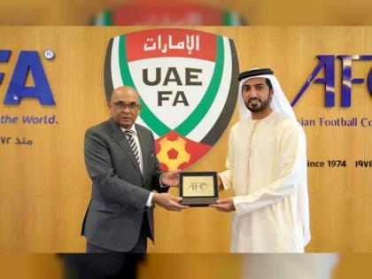 راشد بن حميد يناقش مع الإتحاد الآسيوي لكرة القدم سبل التعاون
