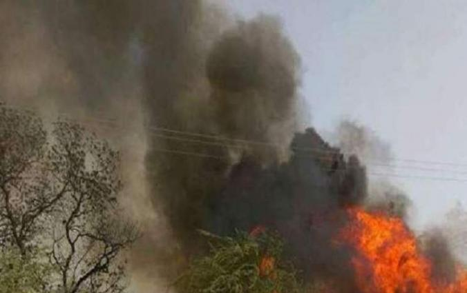 7 mud houses reduced to ashes in Tharparkar