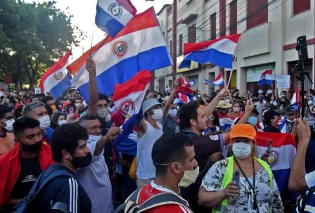 Paraguay protests erupt over government handling of Covid-19