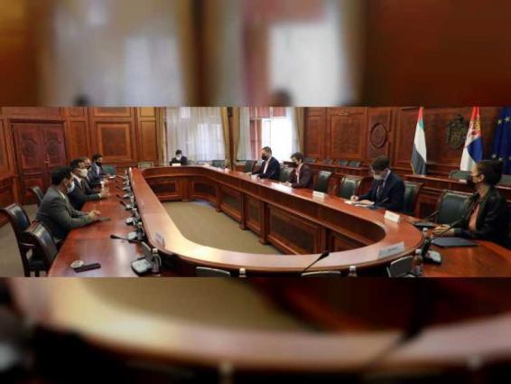 سفير الدولة يبحث التعاون مع صربيا فى قطاع البنية التحتية والنقل
