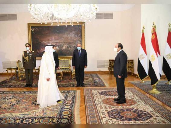 UAE ambassador presents credentials to President of Egypt
