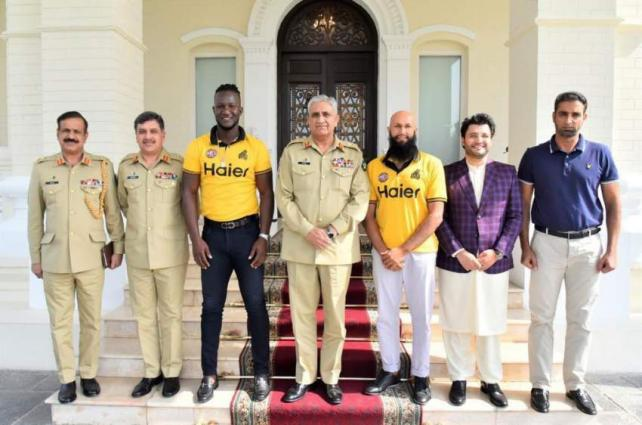 Peshawar Zalmi owner, cricketers call on COAS Gen Qamar Javed Bajwa