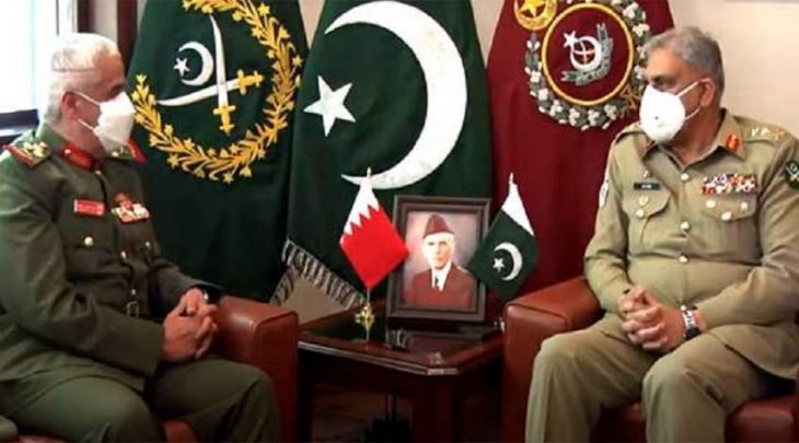 رئیس أرکان الجیش الباکستاني یستقبل رئیس الحرس الوطني الفریق أول الشیخ محمد بن عیسی آل خلیفة