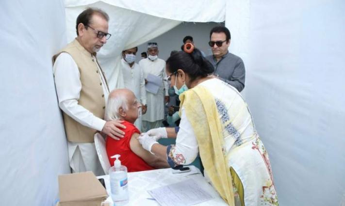 Covid 19 vaccination continues in Arts Council of Pakistan Karachi