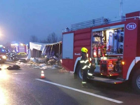 Four killed as truck with migrants overturns in Croatia