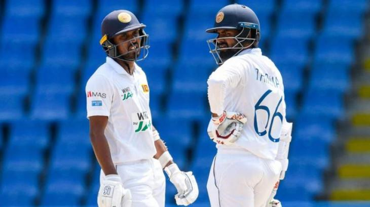 Sri Lanka build lead over Windies to 257