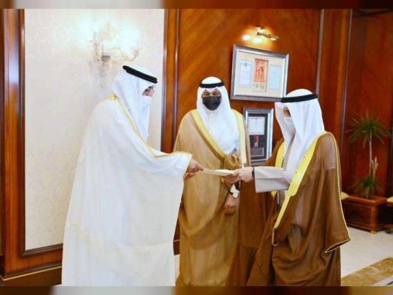 UAE Ambassador presents credentials to Kuwaiti Foreign Minister