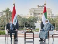 Mohammed bin Rashid, Iraqi premier review strengthening cooperati ..