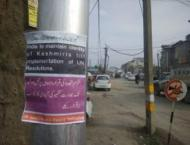 Right to self-determination only solution, say banners in IIOJK