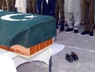 Funeral prayer of Shaheed Constable held