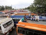 Transporters on strike hold demo in Jammu