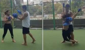 Ira Khan takes Kickboxing lessons from her boyfriend Nurpur Shikh ..