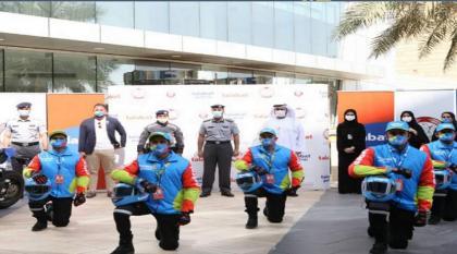 """شرطة أبوظبي وشركاؤها يطلقون مبادرة لتعزيز وعي سائقي """"الدليفري"""" بالسلامة المرورية"""