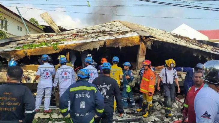 At least four killed in Bangkok residence collapse