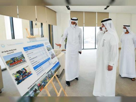 Saeed Al Tayer inspects work progress at 4th phase of the Mohammed bin Rashid Al Maktoum Solar Park