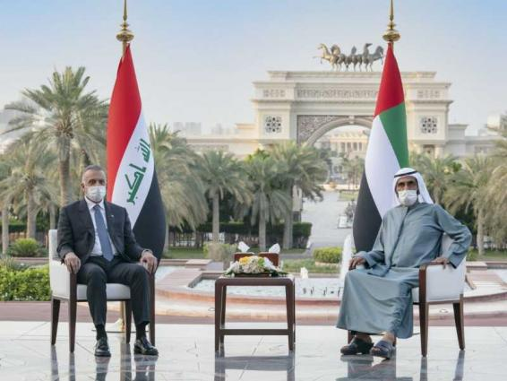 Mohammed bin Rashid, Iraqi premier review strengthening cooperation