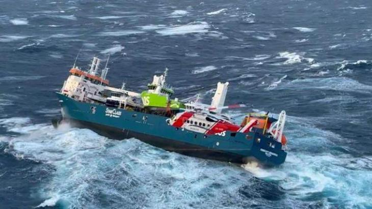 Salvage op delayed for Dutch cargo ship adrift in Norwegian Sea