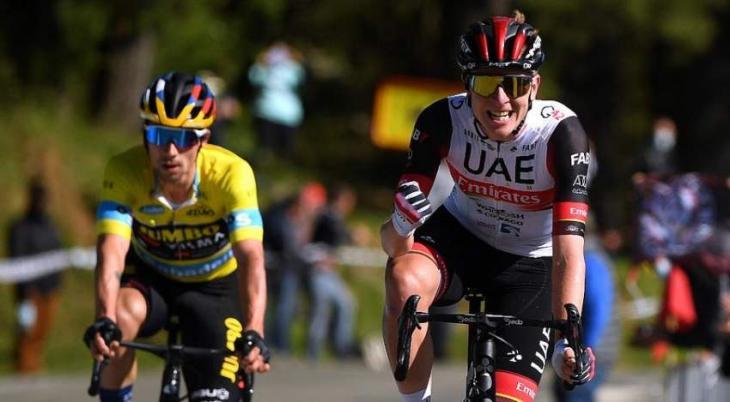 Pogacar edges Roglic again to win third stage of Basque tour