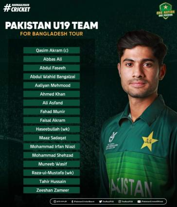 Qasim Akram appointed Pakistan U19 captain