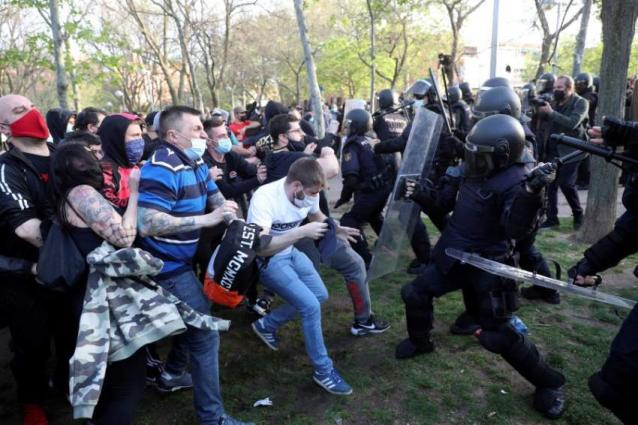 Dozens injured in clashes at far-right Madrid rally