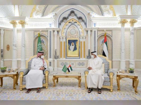 Mansour bin Zayed, Saudi Minister of Sports review fostering bilateral relations