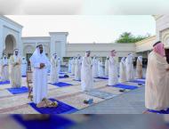 Ruler of Ajman performs Eid al-Fitr prayer